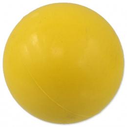 Míček Dog Fantasy tvrdý žlutý 7cm