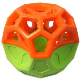Míček Dog Fantasy s geometrickými obrazci oranžovo-zelený 8,5cm