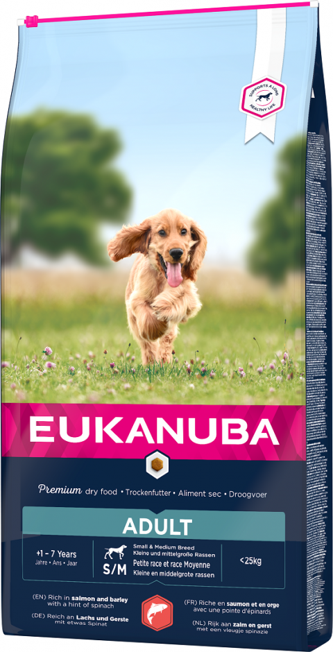 Eukanuba Adult Small & Medium Salmon 2,5kg title=