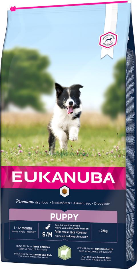 Eukanuba Puppy Small & Medium Lamb 12kg title=