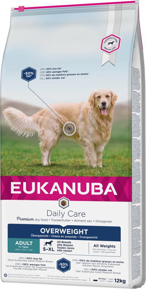 Eukanuba Daily Care Excess Weight 12kg title=