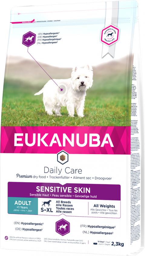 Eukanuba Daily Care Sensitive Skin 2,3kg title=