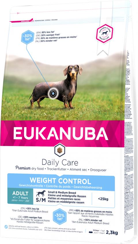 Eukanuba Daily Care Small & Medium Weight & Control 2,3kg title=