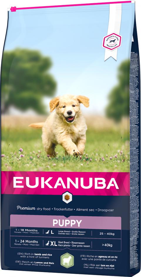 Eukanuba Puppy Large & Giant Lamb 12kg title=