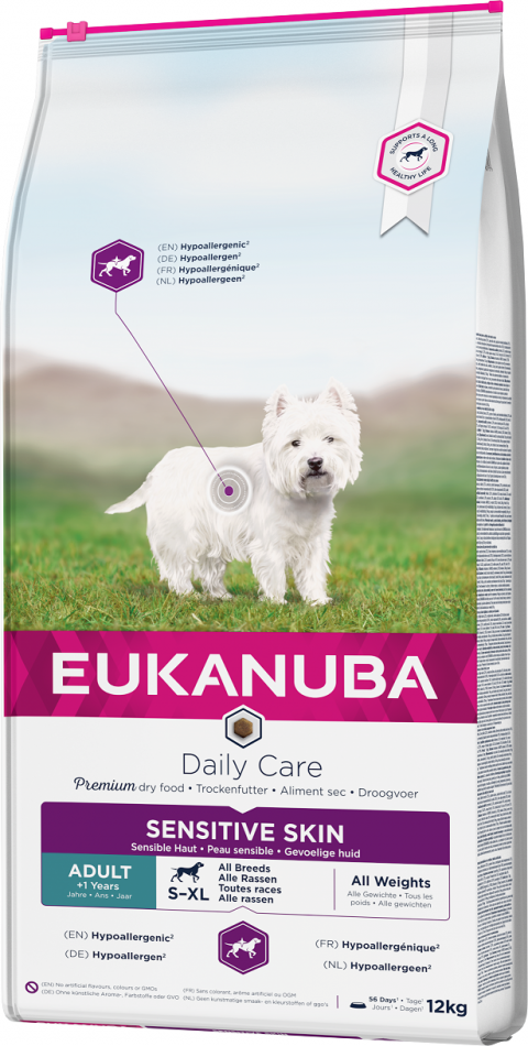 Eukanuba Daily Care Sensitive Skin 12kg title=