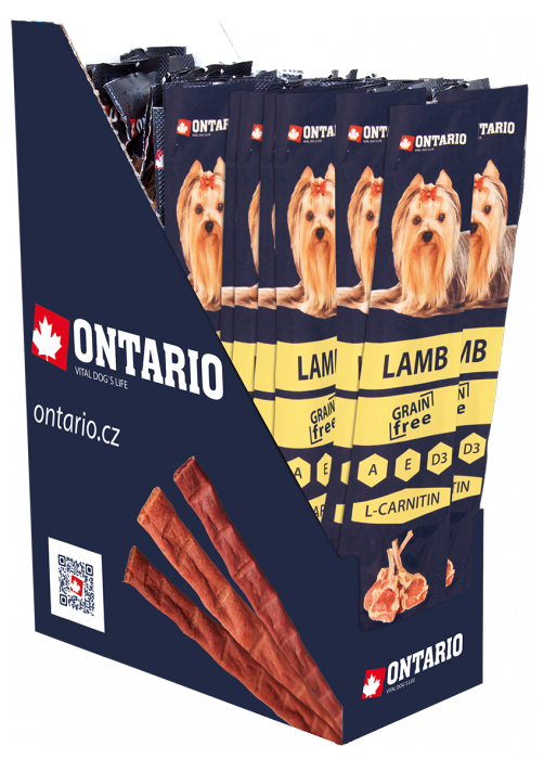 Tyčinka Ontario Stick for dogs Lamb 15 g