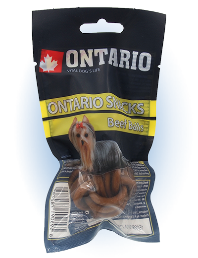 Ontario Rawhide Snack Ball 3,75 cm 2 ks