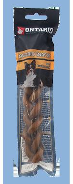 Ontario Rawhide Snack Braided Stick 15 cm 1 ks