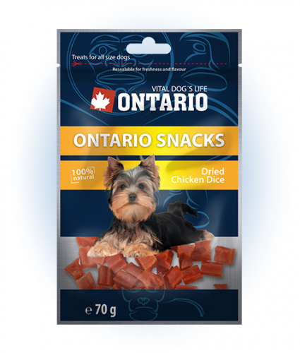 Ontario Snack Chicken Dice Small dog 70 g