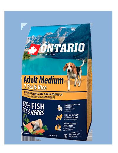 Ontario Adult Medium Fish & Rice 2,25 kg