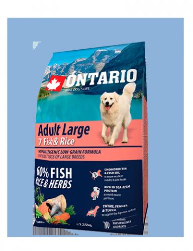 Ontario Adult Large Fish & Rice 2.25kg