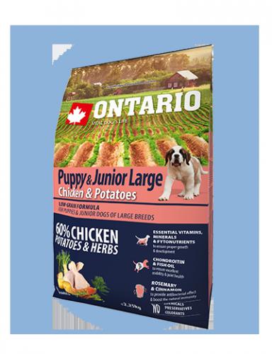 Ontario Puppy & Junior Large Chicken & Potatoes 2,25 kg