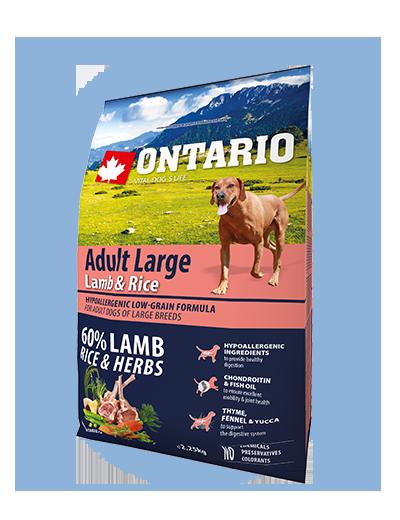 Ontario Adult Large Lamb & Rice 2,25 kg