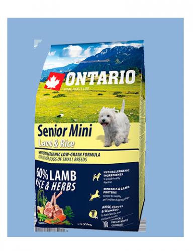 Ontario Senior Mini Lamb & Rice 2,25 kg