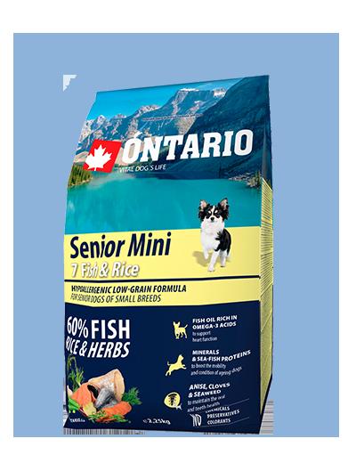 Ontario Senior Mini Fish & Rice 2,25 kg