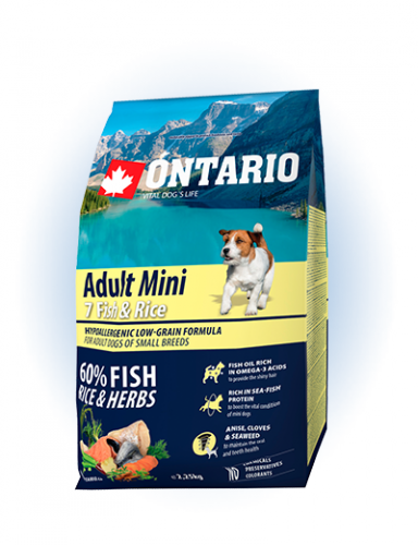 Ontario Adult Mini Fish & Rice 2,25 kg