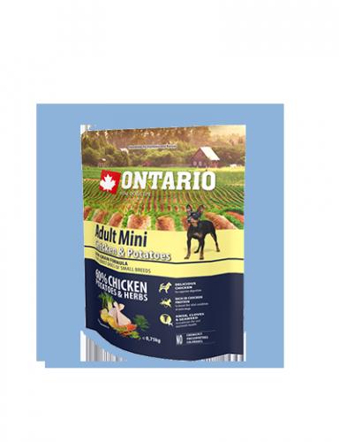 Ontario Adult Mini Chicken & Potatoes 0,75 kg