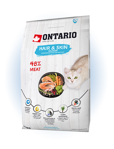 Ontario Cat Hair & Skin 0,4 kg