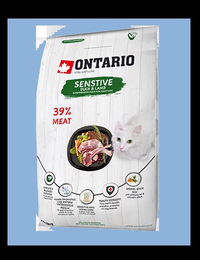 Ontario Cat Sensitive/Derma 0,4 kg