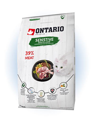 Ontario Cat Sensitive/Derma 0,4 kg