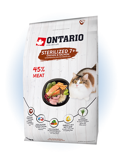 Ontario Cat Sterilised 7+ 0,4 kg