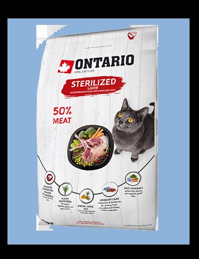 Ontario Cat Sterilised Lamb 0,4kg