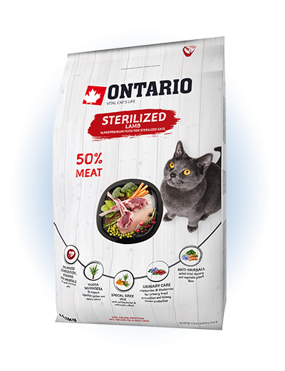 Ontario Cat Sterilised Lamb 2 kg
