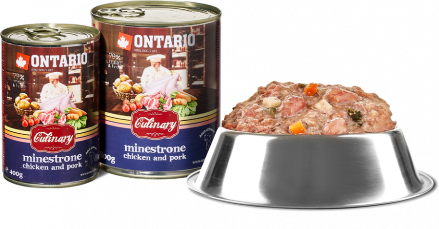 Konzerva Ontario Culinary Minestrone Chicken and Pork 400 g 6 + 1 ZDARMA