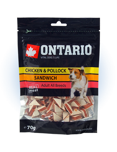 Ontario Snack Chicken Jerky Sandwich 70g