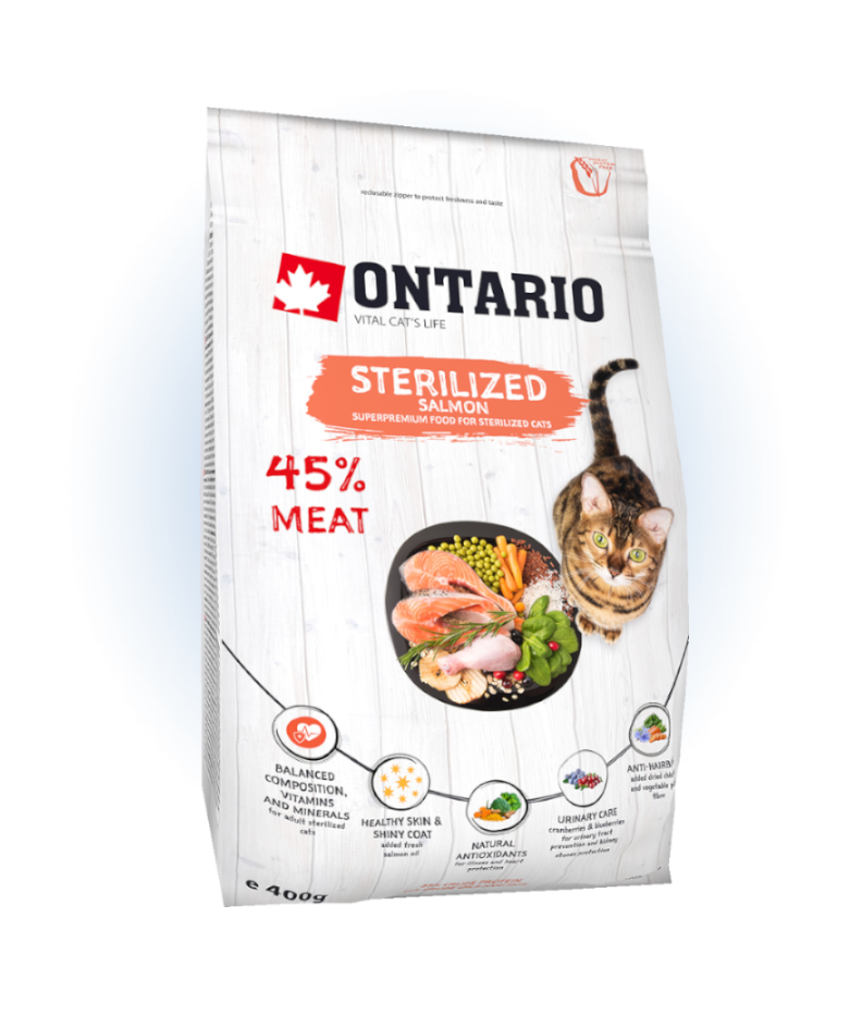 Ontario Cat Sterilised Salmon 0,4 kg