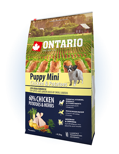 Ontario Puppy Mini Chicken & Potatoes 6,5 kg