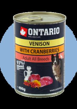 Konzerva Ontario Venison, Cranberries, Safflower Oil
