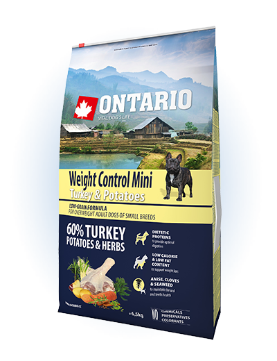 Ontario Mini Weight Control Turkey & Potatoes 6,5 kg