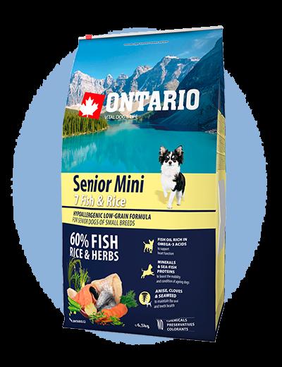 Ontario Senior Mini Fish & Rice 6,5 kg