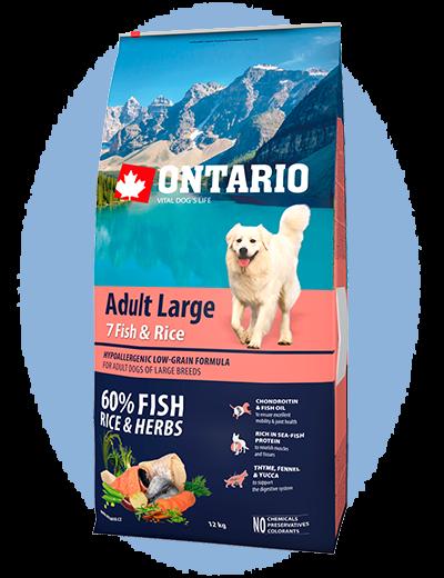 Ontario Adult Large Fish & Rice 12 kg