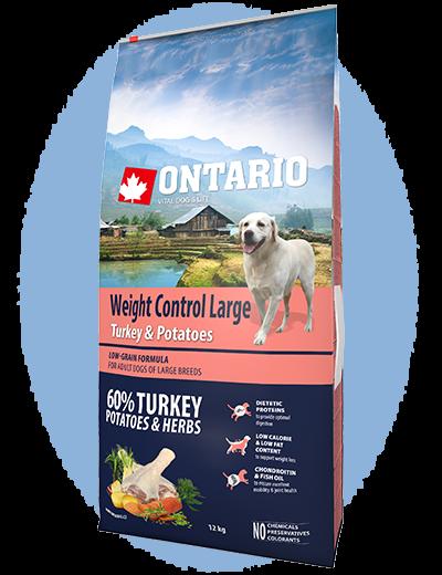 Ontario Large Weight Control Turkey & Potatoes 12kg