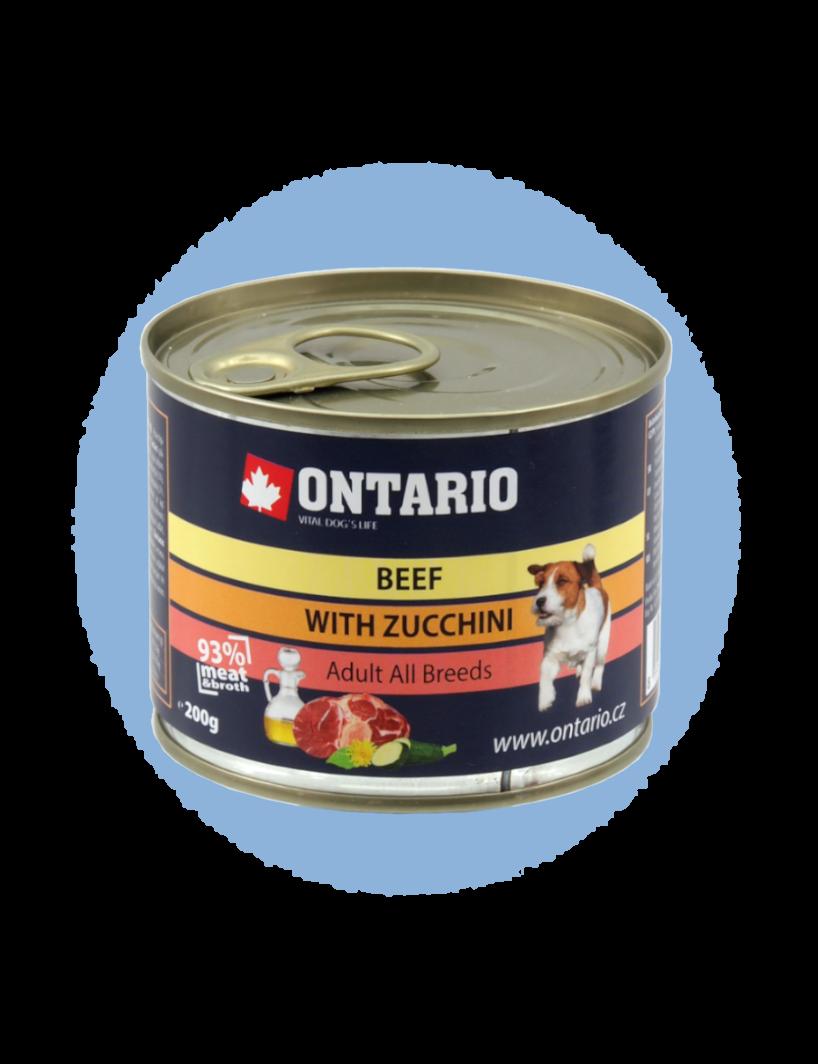 Konzerva Ontario Mini Beef, Zucchini, Dandelion and linseed oil 200 g