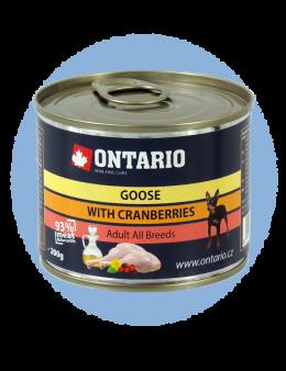 Konzerva Ontario Goose, Cranberries, Dandelion and linseed oil 200g