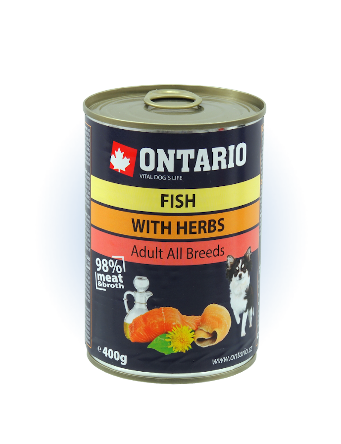 Konzerva Ontario Multi Fish and Salmon Oil 400g