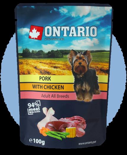 Kapsička Ontario Pork with Chicken in Broth 100g