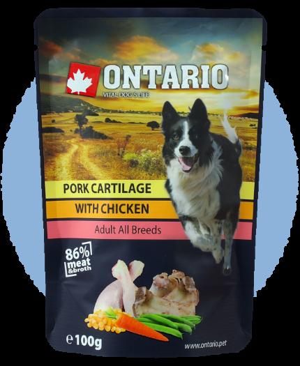 Kapsička Ontario Pork Cartilage with Chicken in Broth 100g