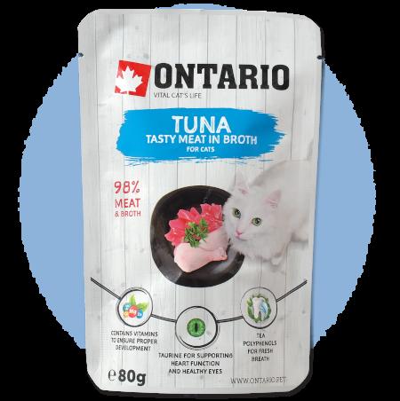 Kapsička Ontario Tuna in Broth 80 g
