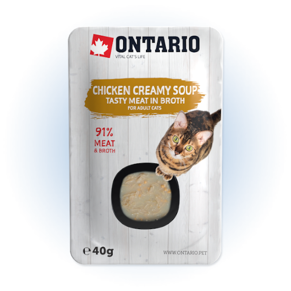 Polévka Ontario Cat Soup Chicken & Cheese with rice 40g