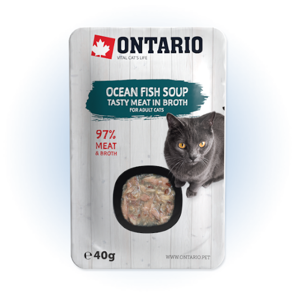 Polévka Ontario Cat Soup Ocean Fish with vegetables 40g