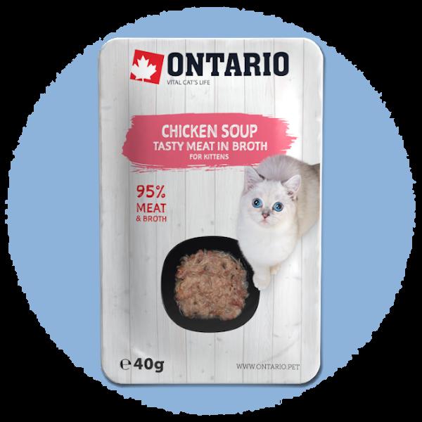 Polévka Ontario Kitten Soup Chicken, Carrot & Rice 40g