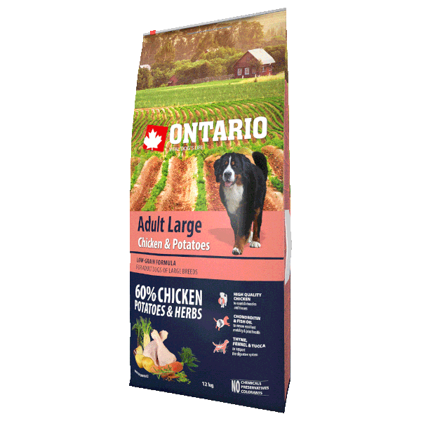 Ontario Adult Large Chicken & Potatoes 12kg