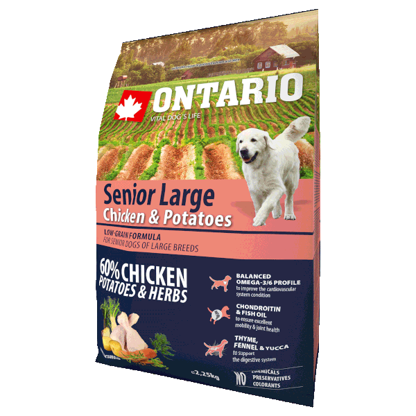 Ontario Senior Large Chicken & Potatoes 2,25 kg