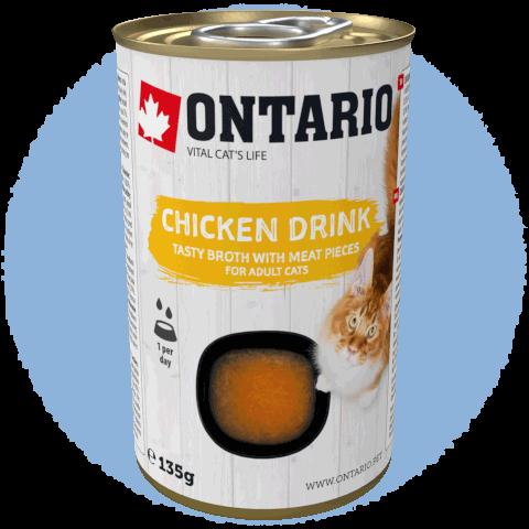 Nápoj Ontario Cat Drink Chicken 135g