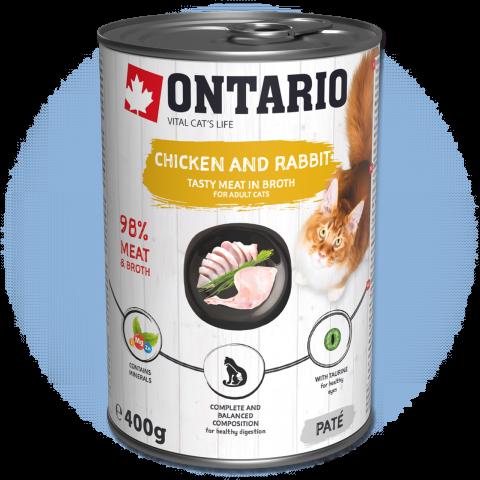 Konzerva Ontario Chicken, Rabbit, Salmon Oil 400g