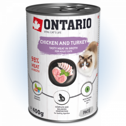 Konzerva Ontario Chicken, Turkey, Salmon Oil 400 g